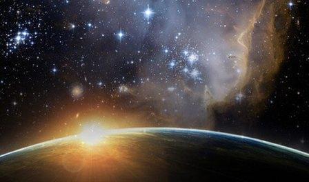 в начале бог сотворил небо и землю